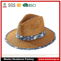 Packable straw original panama hat Fashion panama hat