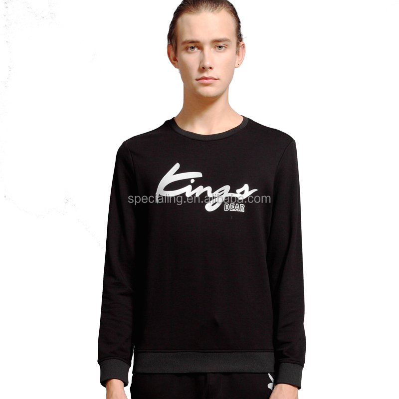 China factory custom printing design cotton mens long sleeve rounded hem t shirt custom