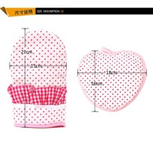 2015 cooking ultrathin less expensive duck shape glove and heart shape pot holder set with hanger