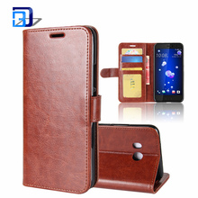 Luxury Slim PU Leather Flip Protective Magnetic Wallet Cover Case for HTC U11 with Card Slot and Stand