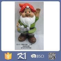 Handmade decoration ceramic garden gnome manufacturers