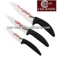 Black handle kitchen ceramic knife knife set for kitchen kitchen knife set