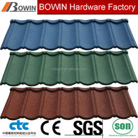 colorful sand coated steel roofing sheet /stone chip coated metal roof /aluminum roof shingle