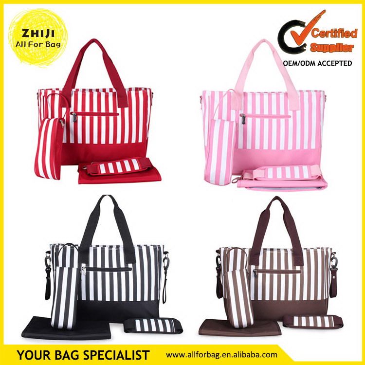 Low price promotional baby bag printing diaper holding bags