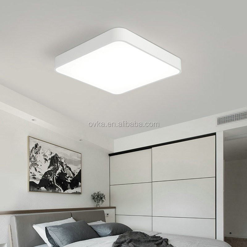 modern minimalist living room LED ceiling lamps indoor rectangular bedroom ceiling pendant light