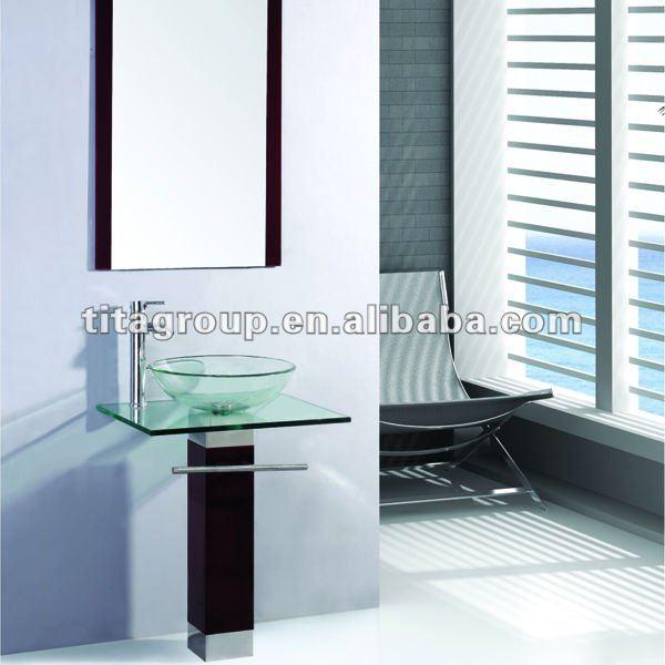 Dise o moderno lavabo de cristal templado b 017 lavabos - Lavabos cristal templado ...