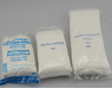 Disposable absorbent zig zag cotton wool for medical use