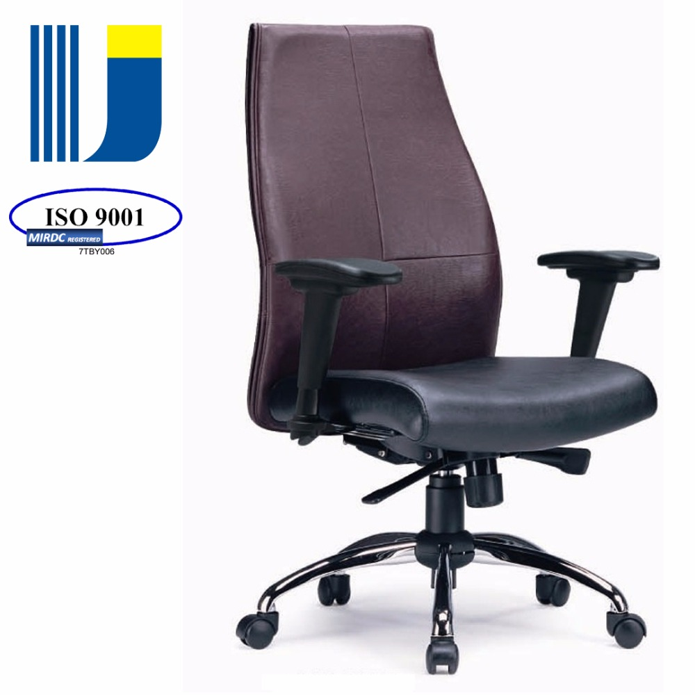 Luxury office furniture modern middle back leather adjustable armrest office swivel task chair CB02
