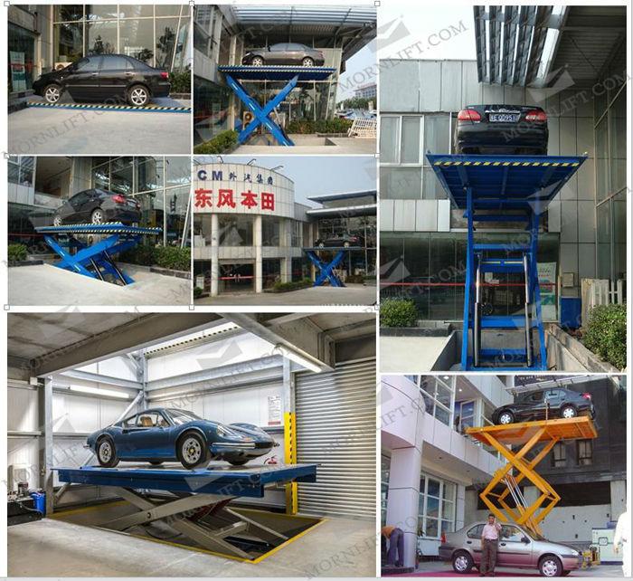 Full Rise Portable Hydraulic Car Scissor Lift Car Lift For ...