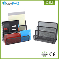 EasyPAG 4 stacking sorter sections mesh paper organizer holder mire letter tray