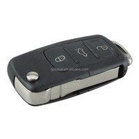 Car flip remote key 3+1 button remote key case with folding key blank