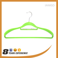 Colored Velvet Hanger Dresses / Suits Hangers with Anti-slip