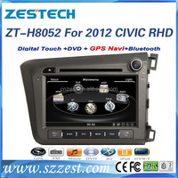 2 din 8 inch car sat navi headunit for honda 2012 civic rhd car dvd player car monitor with 3G Wifi MP3 support IOPD
