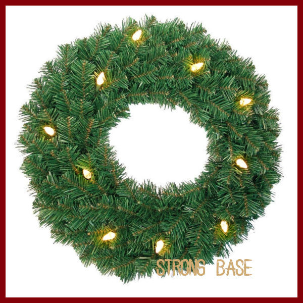 led lighted garland/Christmas wreath garland with led light