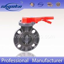 PVC butterfly valve with gear type operated