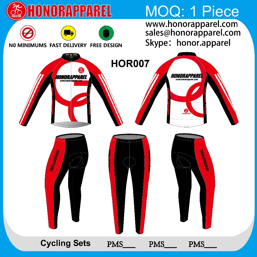 French polyester sublimation light fabric long sleeve air conditioned jacket cycling jersey 2016honorapparel