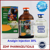 antipyretic analgesics drug metamizole sodium injection for cattle sheep