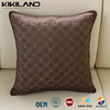 metallic thread embroidery cuhion covers brown cushion covers