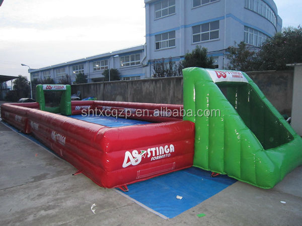 HOT selling inflatable football arena/ inflatable portable soccer pitch games