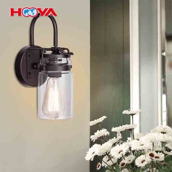 1 Head Wall Mounted Bathroom Rubbed Oil Bronze Bathroom One Light Vanity Fixture with Bulb Vanity Light