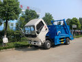 Dongfeng 3 m3 Swing Arm garbage transport truck with bucket