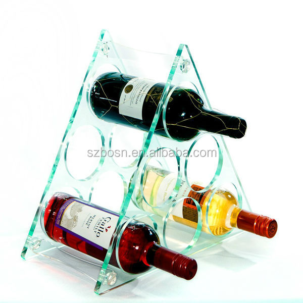 Customized Acrylic wine rack for sale, clear acrylic wine display rack