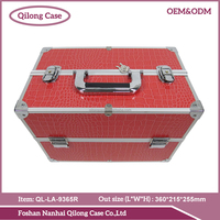 Professional supplier aluminum makeup case with legs