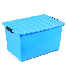 Hot sale colorful clothing plastic toy storage box with lock and wheel