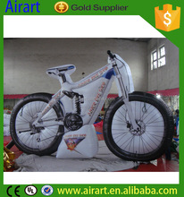 Hot sale giant inflatable bicycle, inflatable bike for advertising