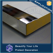 Protection & Decoration stair nosing high end finish SS304 stair edge profile