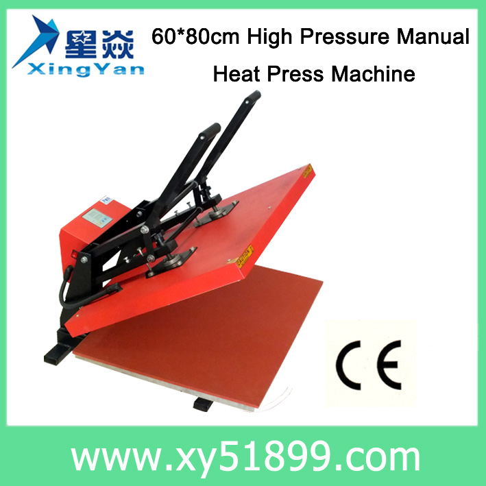 60*80CM Good Quality High Pressure Manual Heat Press <strong>Machine</strong> for T shirt
