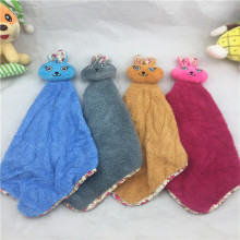 Super fine fiber hanging children wipe towel