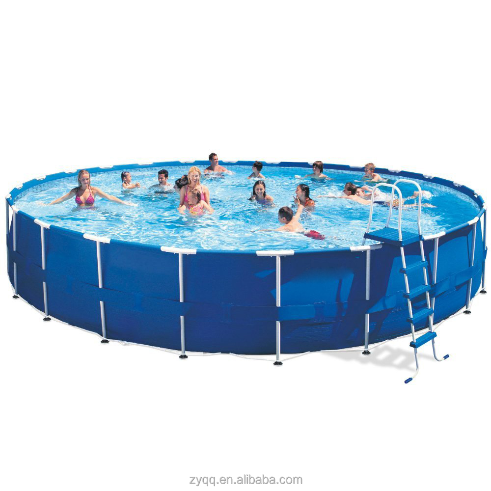 Hot sale swimming frame pool equipment,inflatable stents metal swimming pool for backyard