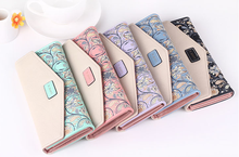 Damara Elegant Flower Pattern Fresh Fashion Sweet Ladies Wallet with PU leather YFW170701
