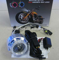 2013 New Arrived Double xenon light Angel Eyes Projector Lens for motorcycle