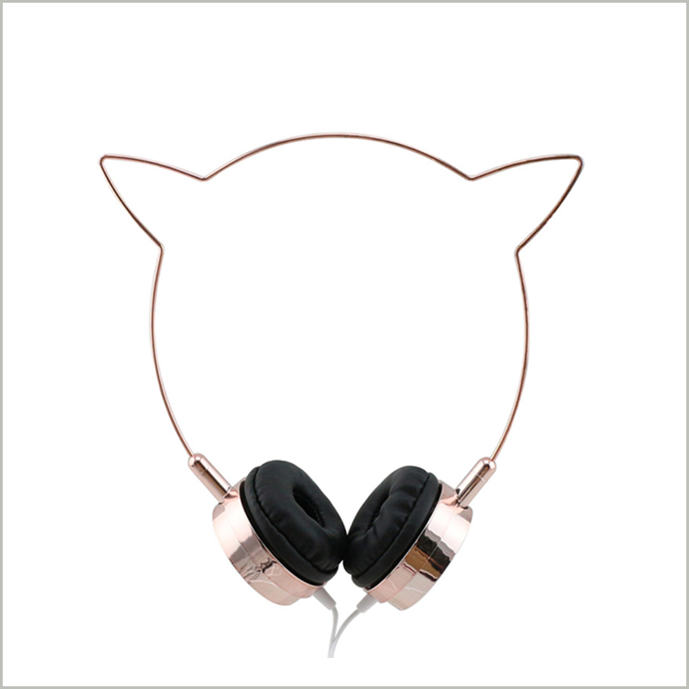 2017 Cheap Cute Fashion OEM Manufacturer Custom Logo Wired Fashion Cat Ear Headphone for Children