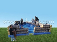 Inflatable wipeout ,eliminator mechanical rodeo game Riding Machine/Mechanical Rodeo Bull/Inflatable Rode A6037