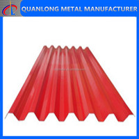 color coated steel galvanized corrugated metal sheet for roofing