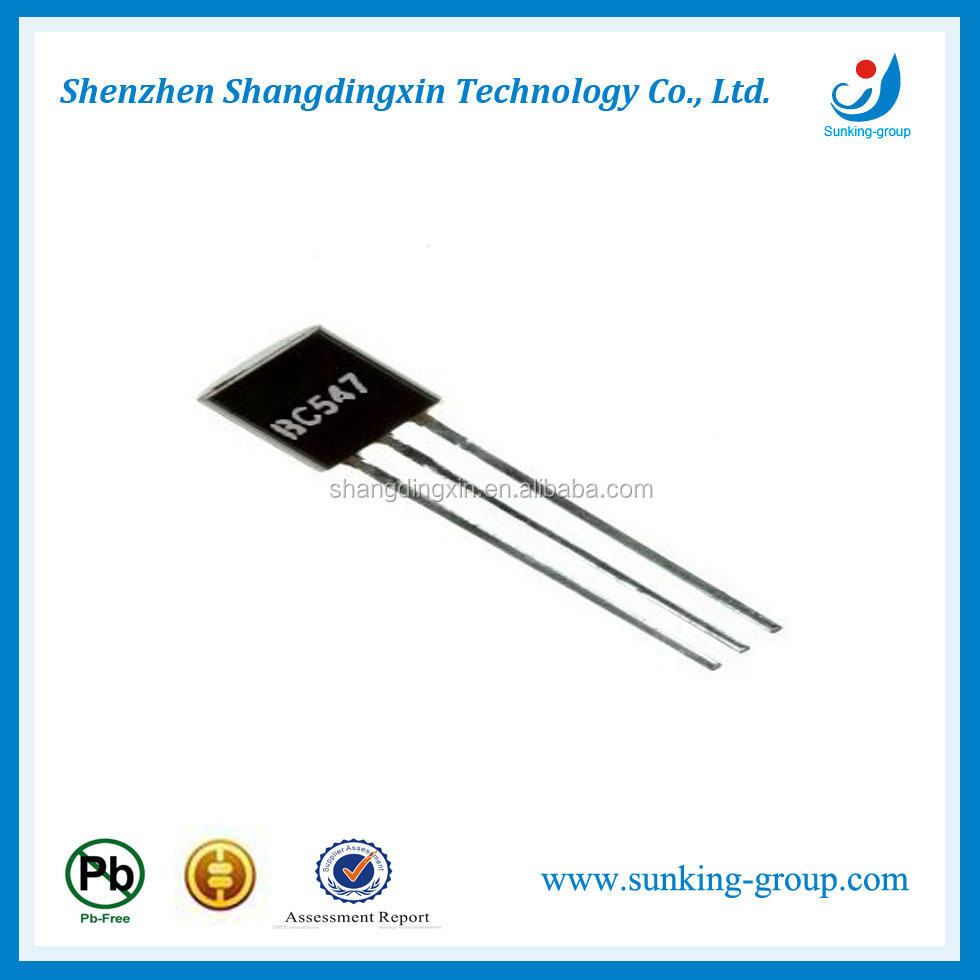 High efficiency power transistor BC547