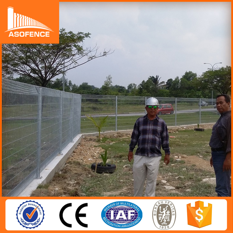 Hot dipped galvanized PVC coated BRC fence