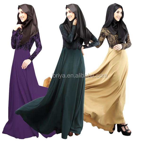 Wholesale price 2016 modern printed abaya custom lace maxi dress buy