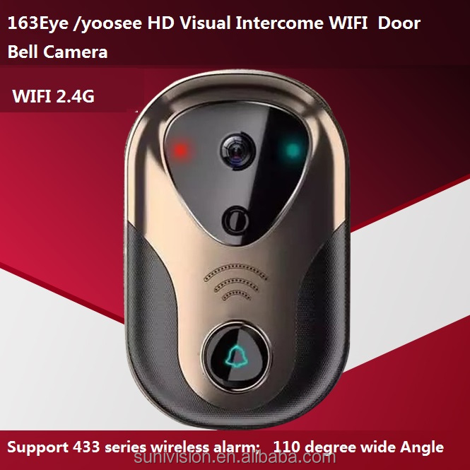 WiFi Smart Video Doorbell <strong>Phone</strong> Camera 163Eye Visual Ring Intercom