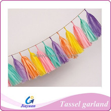 Tissue Paper Tassel Garland, for Children's Day Wedding baby shower Birthday Party Decorations