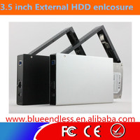 "Blueendless 3.5"" hard drive disk Screw Free hdd case USB3.0 to SATA HDD candy"