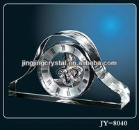 Clear Decoration Crystal Desk /Clock Glass Clock