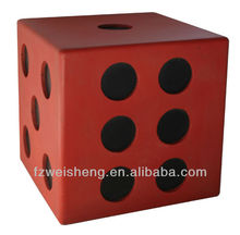 "15.7"" Rolling Dice Ottoman Stool"