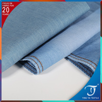 For men women fabric 100% cotton denim jean fabric 32S denim shirting fabric