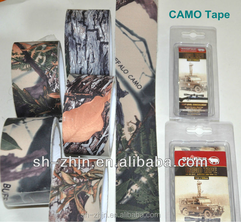 SCT High Tack polyester Camo Rubber Cloth Tape With Water Resistant