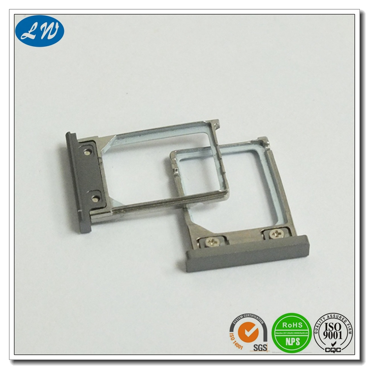Customized precision Metal Injection Molding SIM Card Slot Holder for Android Tablet