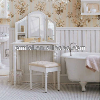 Bath room make up desk &bench set